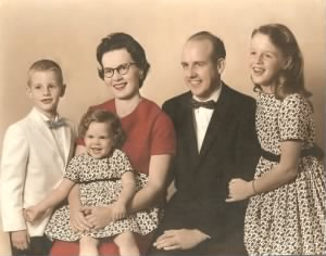 Player family portrait circa 1959