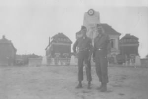 Two Soldiers in Front of Town Hall, Folenbrauy, France