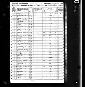 1850 US Census - Russell County, Alabama