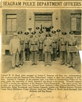 News Photo of Seagram's Police Dept.jpg - Fold3.com