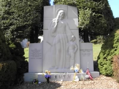 Babe & Claire Ruth's Grave.JPG