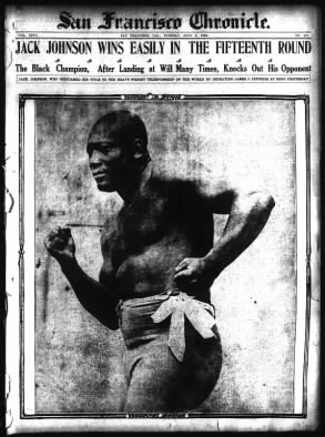 Jack Johnson Defeats James J. Jeffries - 4 July 1910 - Reno, Nevada
