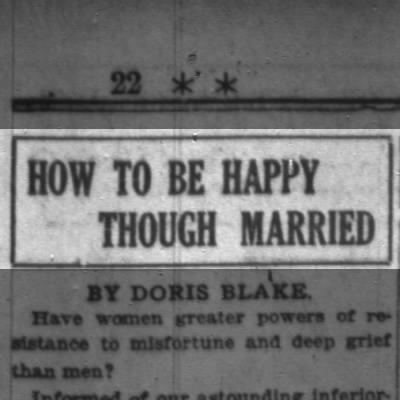 How to be happy - though married