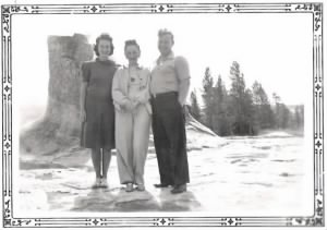 George, Mary, and friend at Yellowstone.jpg