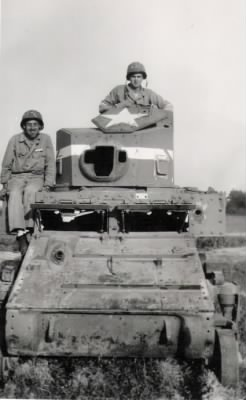 Guido in old army tank.jpg