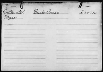 Isaac Buck's Revolutionary War Pension File - page 1