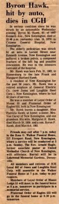 Obituary for Byron Melvin Hawk