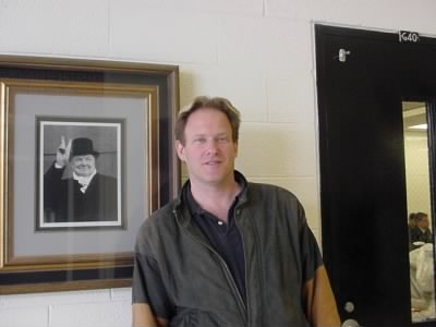 rusty with picture of churchill at the high school 2004 - Fold3.com
