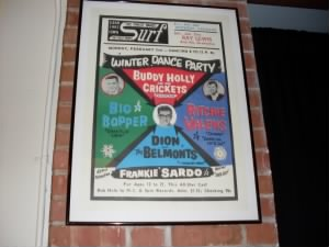 Buddy Holly Poster in Surf Ballroom