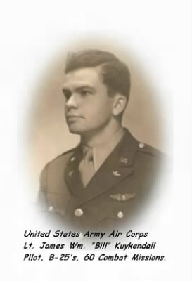 "Lt James Wm. ""Bill"" Kuykendall, Pilot, 321st BG, 447th BS"
