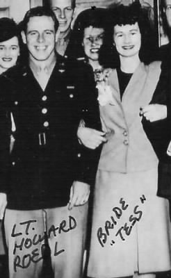 Lt Howard (and BRIDE, Tess) Roedl, WW II, (His WEDDING) 1945, Conn