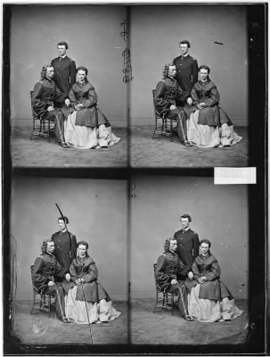 Mathew B Brady Collection of Civil War Photographs › B-1923 Gen. George A. Custer and Wife. - Fold3.com