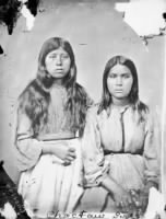 Portrait of Two Choctaw Girls 1868