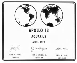 Apollo 13 Plaque