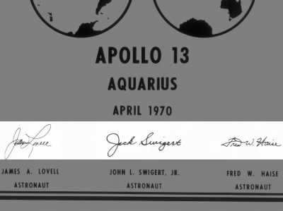 Apollo 13 Crew Signatures