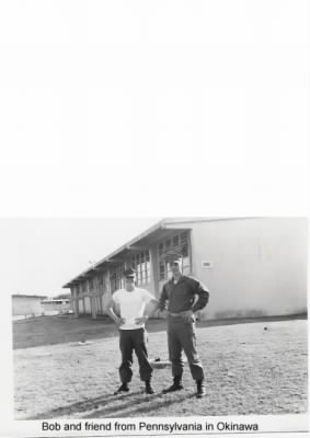 Bob and a friend from Pennsylvania  Okinawa December 1965.JPG - Fold3.com