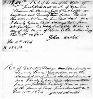 V. Slemmer payment to Ansted heirs