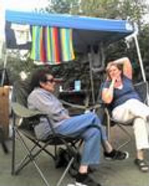 Joanne's bicycling and camping trip to San Onefre