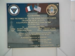 "S/Sgt Edwin ""MIKE"" Elliott /Memorial Dedication on Corsica"