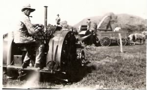 Lowell Workman on tractor