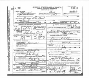 George D M Best- Death Certif.