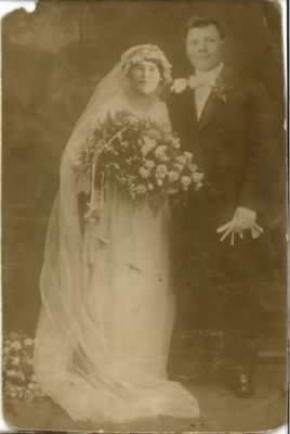 Ludwig Sanetra and Caroline Strzawi wedding-1915-from Dirk Varnholt