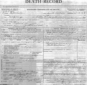 death cert Richard Jelle