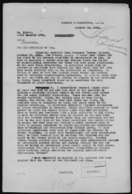 Confidential Cablegram from General Headquarters to War Department