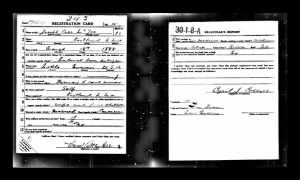 Joseph Carr McGee Draft Registration WW I