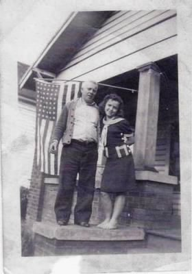 Catherine Ann Brown Wales with her father William C. Brown