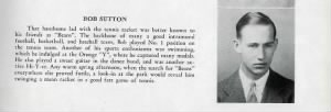Robert J Sutton, High-School Yearbook from 1942