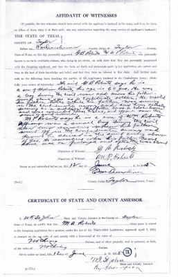 Roberts, William Widows Confederate Pension Application Texas 004.jpg