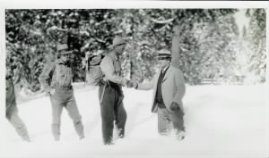 Jasper Miley, Henry Merema, Charles Noack after rescuing the Nightingale family - January 1930.jpg
