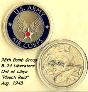 """98th Bomb Group, B-25 Heavy/Liberator """"FORCE FOR FREEDOM"""""""