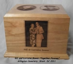 """Bill and Lorriane Bower, ONCE LOVED, Never Forgotten"""" Arlington Cemetery, May 2011"""