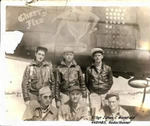 321stBG,448thBS, T/Sgt James Morefield - bottom right
