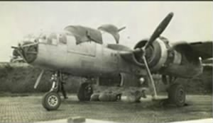 WWII, One of Lt Thompson's B-25's on Corsica....  1945