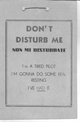 "George's own SIGN  ""DON'T DISTURB ME"""
