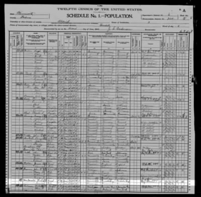 1900 Census: Richard McDonald Family