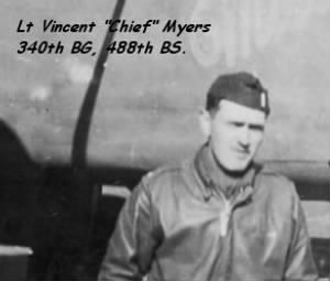 Capt Vincent Myers, 340th Bomb Group Lead Bombardier Officer /WWII