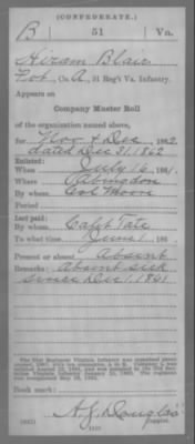 Blair, Hiram (Charles) A 51 VA Inf (Conf) Compiled Service Record Page 4.jpg