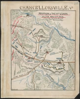 Chancellorsville, Va. Position of the 11th Corps at 6 p.m. May 2nd 1863 Maj Genl O.O. Howard commanding. › Page 1 - Fold3.com