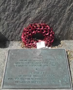 Danish Memorial to US Army Air Corps who died in Danish Waters