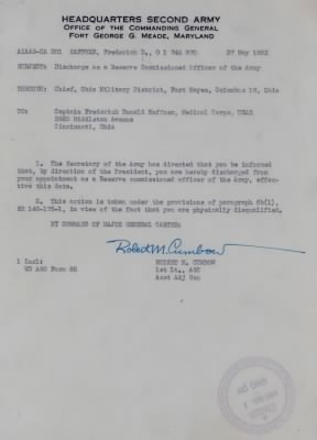 27 May 1953 Letter from Robert Cumbow, 1st Lt AGC, Ft. George Mead, Maryland - Fold3.com