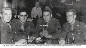 Orus Baxter and his Friends, relaxing and talking. 1944