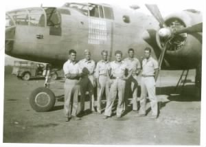 Lt Richardson with his Ship and Crew, North Africa, 1943
