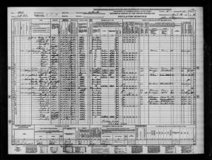 1940 Census April 15, 1940 in Butlerville Ut