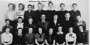 1938, Dino with his classmates at Jefferson High School, Missouri