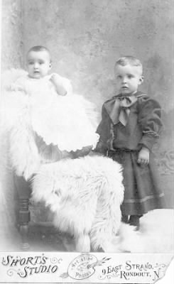 Gordon Van Kleeck (on the right) with his sister Roxy