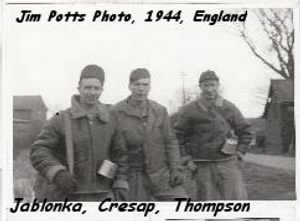 Jablonka, Cresap and Thompson, Nether Warton, England, 1944 B-17's /Jim Potts Photo